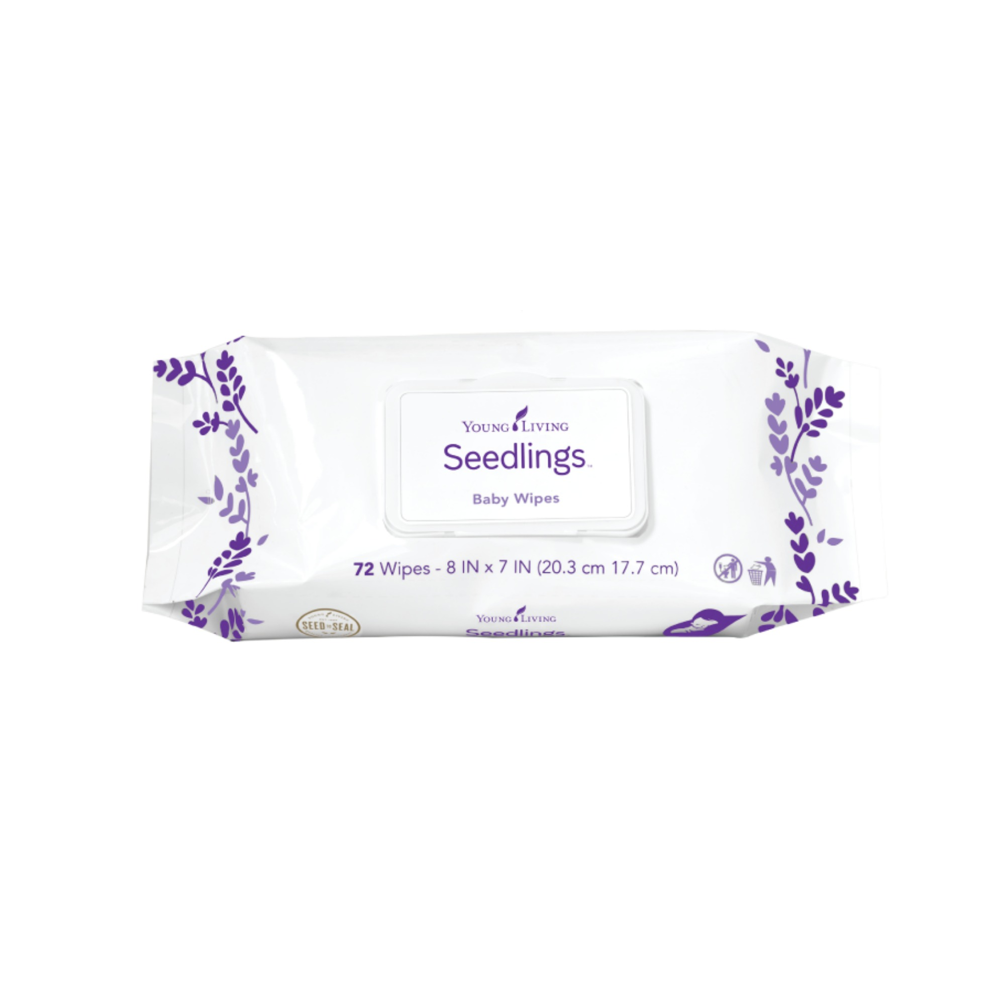 SEEDLINGS WIPES    Seedlings Baby Wipes are ultra-soft and comfortable. The soothing formula leaves skin moisturized, soft, and smooth, while providing gentle and thorough cleansing. Many like to use these as feminine wipes, or even as masculine wipes as well. Not flushable.   Click here     to learn more about this product.