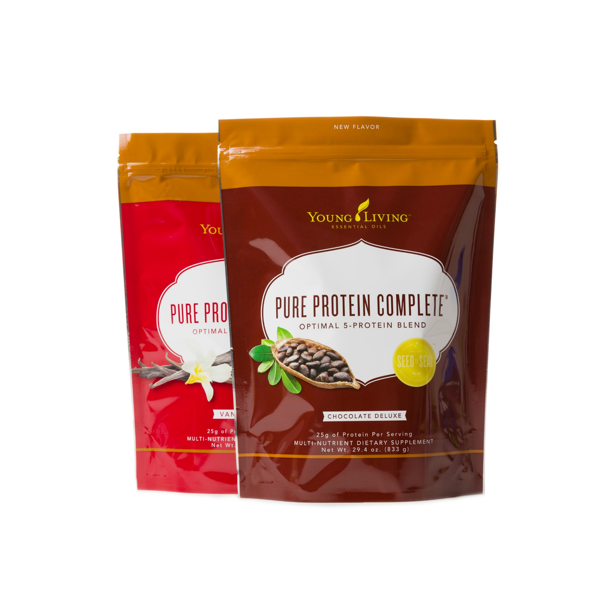 PURE PROTEIN COMPLETE    Pure Protein Complete is a comprehensive protein supplement that combines a proprietary 5-Protein Blend, amino acids, and ancient peat and apple extract to deliver 25 grams of protein per serving in two delicious flavors, Vanilla Spice and Chocolate Deluxe. Its foundation of cow and goat whey, pea protein, egg white protein, and organic hemp seed protein provide a full range of amino acids, which support overall protein utilization in the body. Ancient peat and apple extract, along with a powerful B-vitamin blend, complete the formula. Together they support ATP production, the energy currency of the body. This innovative formula makes Pure Protein Complete the perfect option for those looking for a high protein supplement that features a full range of amino acids.   Click here   to learn more about this product.