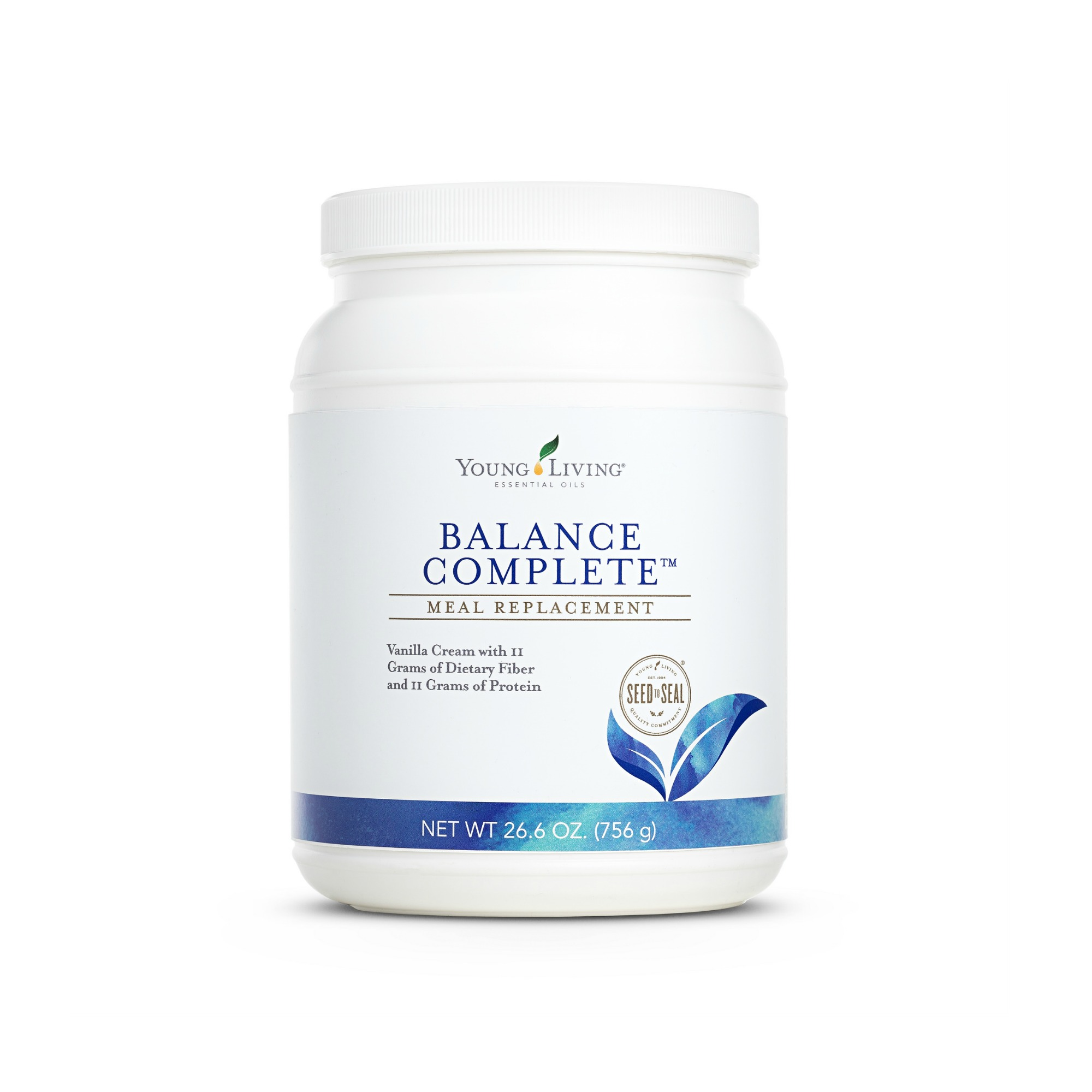 BALANCE COMPLETE    Balance Complete™ is a super-food-based meal replacement that is both a powerful nutritive energizer and a cleanser. Offering the benefits of Ningxia wolfberry powder, brown rice bran, barley grass, extra virgin coconut oil, aloe vera, cinnamon powder, and a premium whey protein blend, Balance Complete is high in fiber, high in protein, and contains the good fats, enzymes, vitamins, and minerals needed for a nutritionally dynamic meal. Balance Complete also features Young Living's proprietary V-Fiber™ blend, which supplies an amazing 11 grams of fiber per serving, absorbs toxins, and satisfies the appetite while balancing the body's essential requirements.   Click here   to learn more about this product.