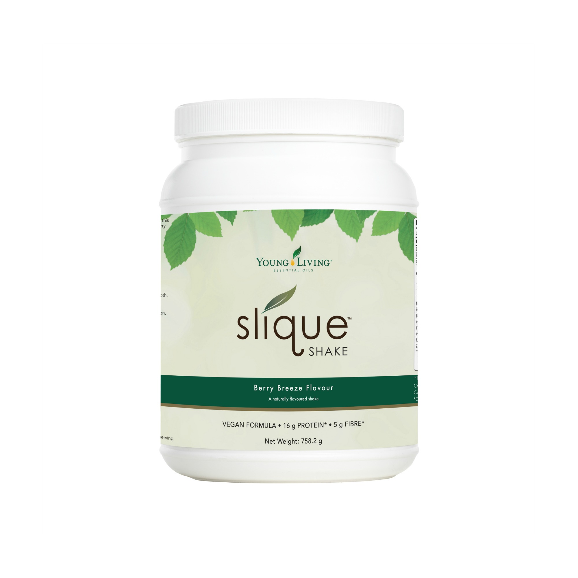 SLIQUE SHAKE    Slique® Shake is a complete meal replacement shake that provides quick, satisfying, and delicious nutrition. Formulated with Slique Essence Essential Oil Blend, this shake may support healthy weight management when combined with regular exercise and a sensible diet. Its berry flavor is great on its own, or mixed with almond milk or fruit, and its vegan formula contains no artificial colors, flavors, preservatives or GMO ingredients. It is naturally sweetened with Stevia, organic coconut palm sugar, wolfberries, and strawberries. The formula also includes pea protein, quinoa, wolfberry, pumpkin seed protein, and alfalfa grass juice, making it not only a tasty protein shake but an excellent source of dietary fiber as well.   Click here   to learn more about this product.