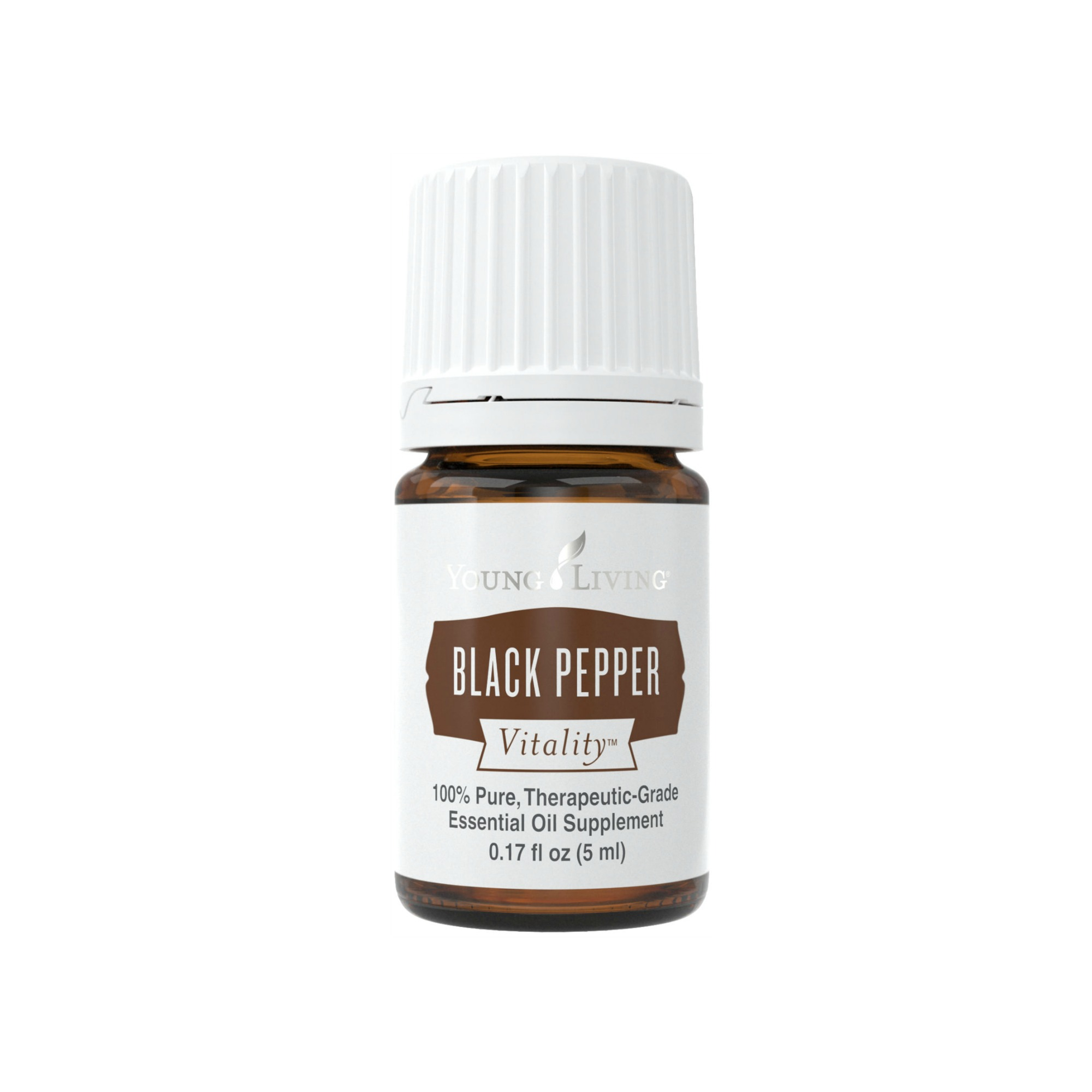 BLACK PEPPER VITALITY    Black Pepper is one of the most popular spices in the world. Its distinctive flavor makes it a common addition to many recipes, from appetizers to entrees. Use Young Living's Black Pepper Vitality essential oil to spice up your favorite soup, rub, or marinade recipes. Black Pepper Vitality oil can replace ground black pepper.   Click here   to learn more about this product.