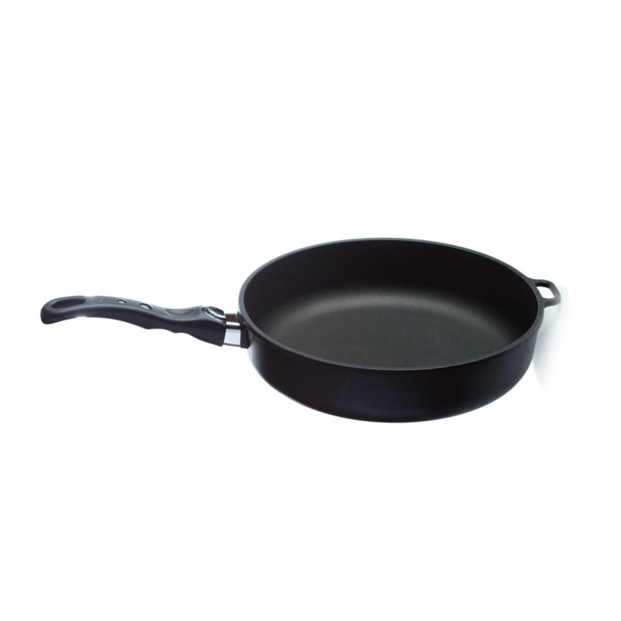 HIGH RIM FRYING PAN 28x7    This deep set 28x7cm size is great for cooking medium to larger sized dishes. Young Living's titanium pans are premium cookware products that cook evenly without sticking, won't warp or lose their shape, and don't have Teflon coating. The titanium coating allows you to cook with little or no fat and is non-porous. The bases are made of cast aluminum, which conducts heat seven times faster than iron or steel. The patented handles have no screws or rivets to loosen and fall off. All handles, lids, and knobs are ovenproof up to 500° F.   Click here   to learn more about this product.
