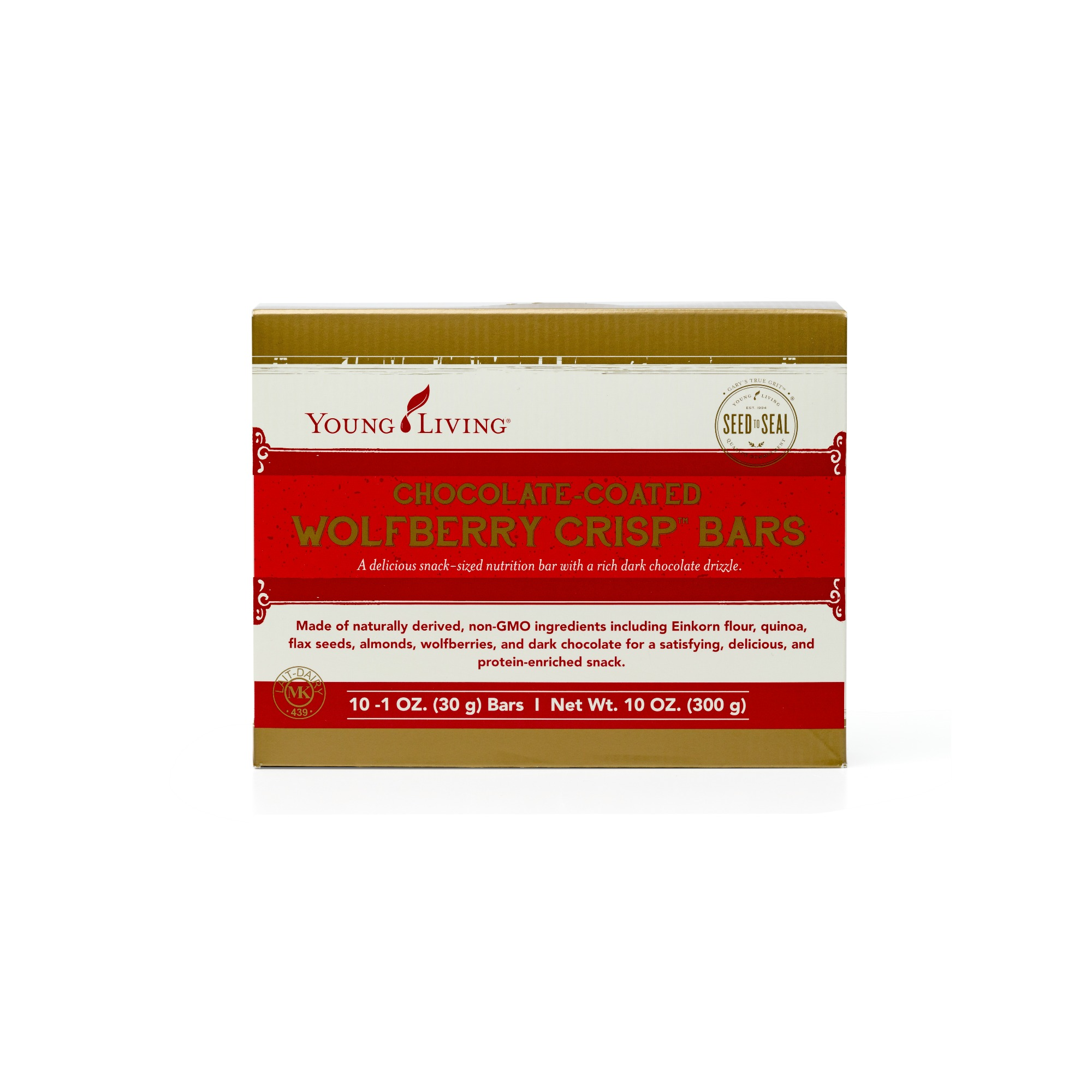 WOLFBERRY CRISP BARS - CHOCOLATE    These bars combine wholesome grains, fruits, nuts, and whey into a convenient snack-sized bar that is the perfect to take on the go. Drizzled in rich dark chocolate and flavored with sweet coconut and wolfberries, these taste like a decadent treat but are packed with satisfying nutrition. Perfect for an on-the-go bite, with ingredients that will keep you energized and full.   Click here   to learn more about this product.
