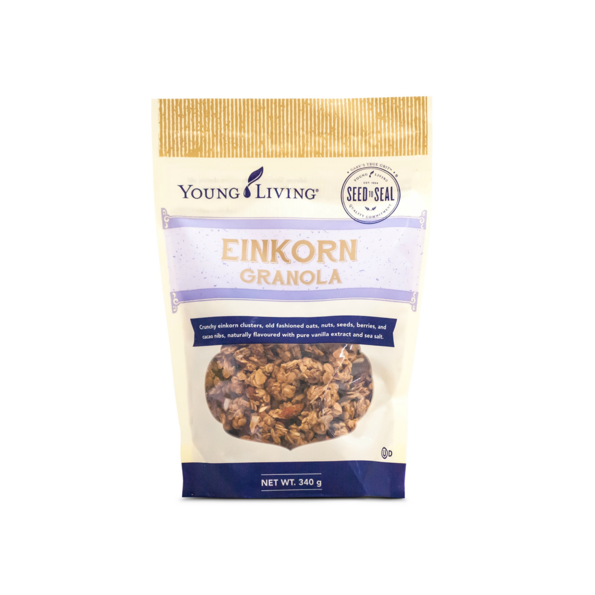 EINKORN GRANOLA    Served hot or cold, Gary's True Grit™ Einkorn Granola is a great way to start your day. The tasty combination of naturally sourced grains, nuts, berries, and seeds provides both simple and complex carbs to keep you going through the day. With crunchy clusters mixed with chewy dried wolfberries, this granola is perfect to pack along with you no matter where you go!   Click here   to learn more about this product.