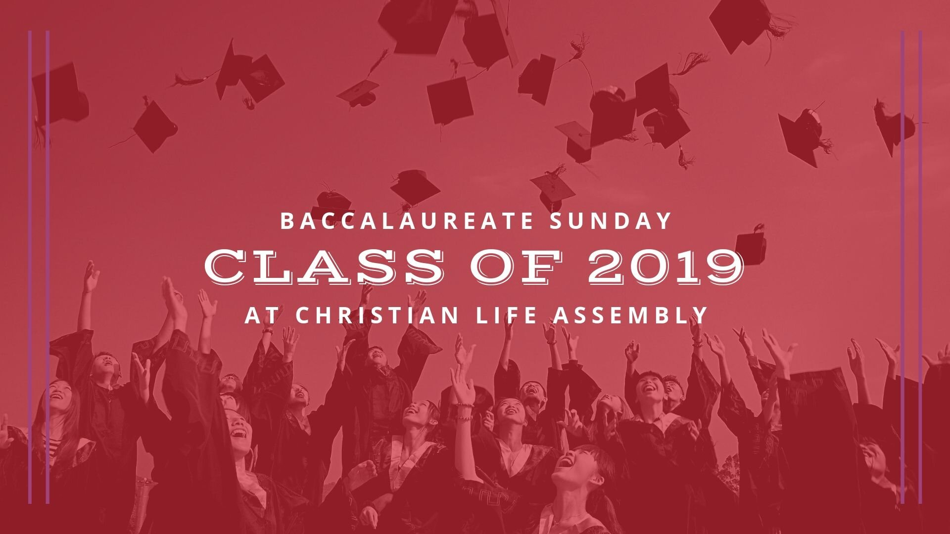 Sunday, June 7, 2020 11:00 AM service.  Deadline to register is Sunday, May 3, 2020.