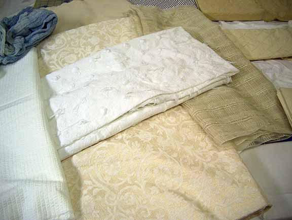 PFD cotton, silk, and linen fabrics.