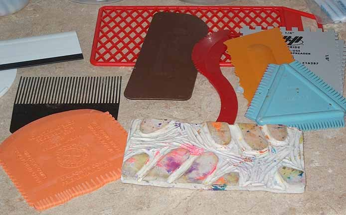 Various objects for creating texture and patterns.