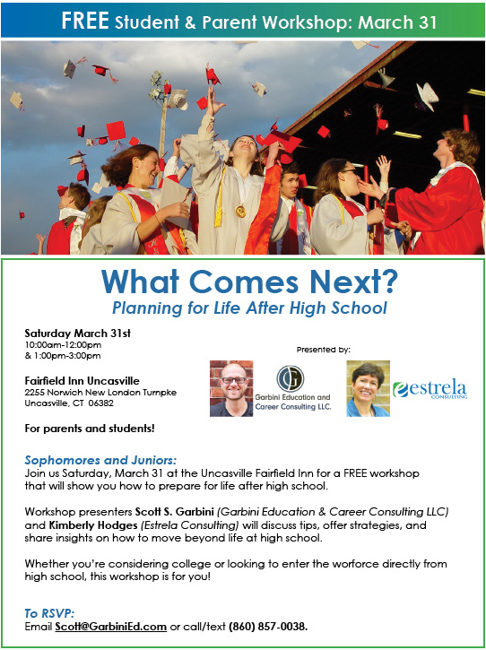 Free Workshop: What Comes Next? Planning For Life After High School | Uncasville, Connecticut
