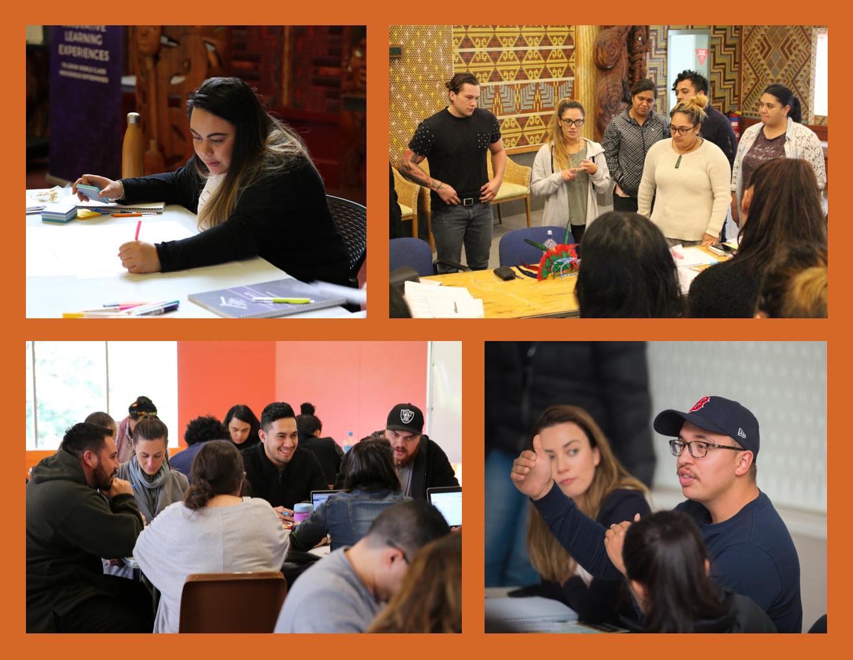 Participants on Te Whare Hukahuka's young leaders governance programme, Ka Eke Poutama.