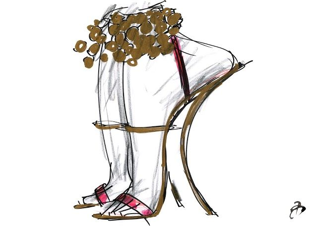 Sketch by Bruno Frisoni for Roger Vivier