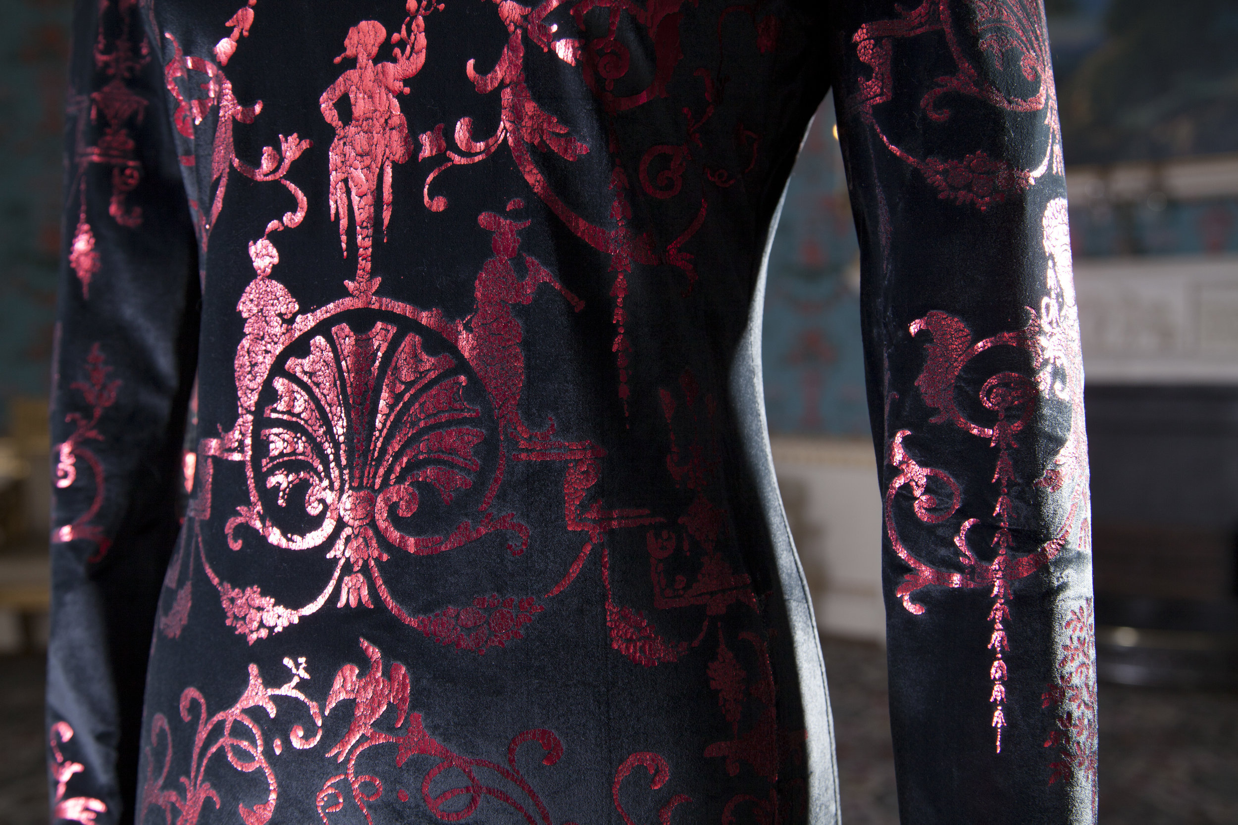 Vivienne Westwood, Dress (detail),  Photographed at Danson House, Kent by Daniel Luke
