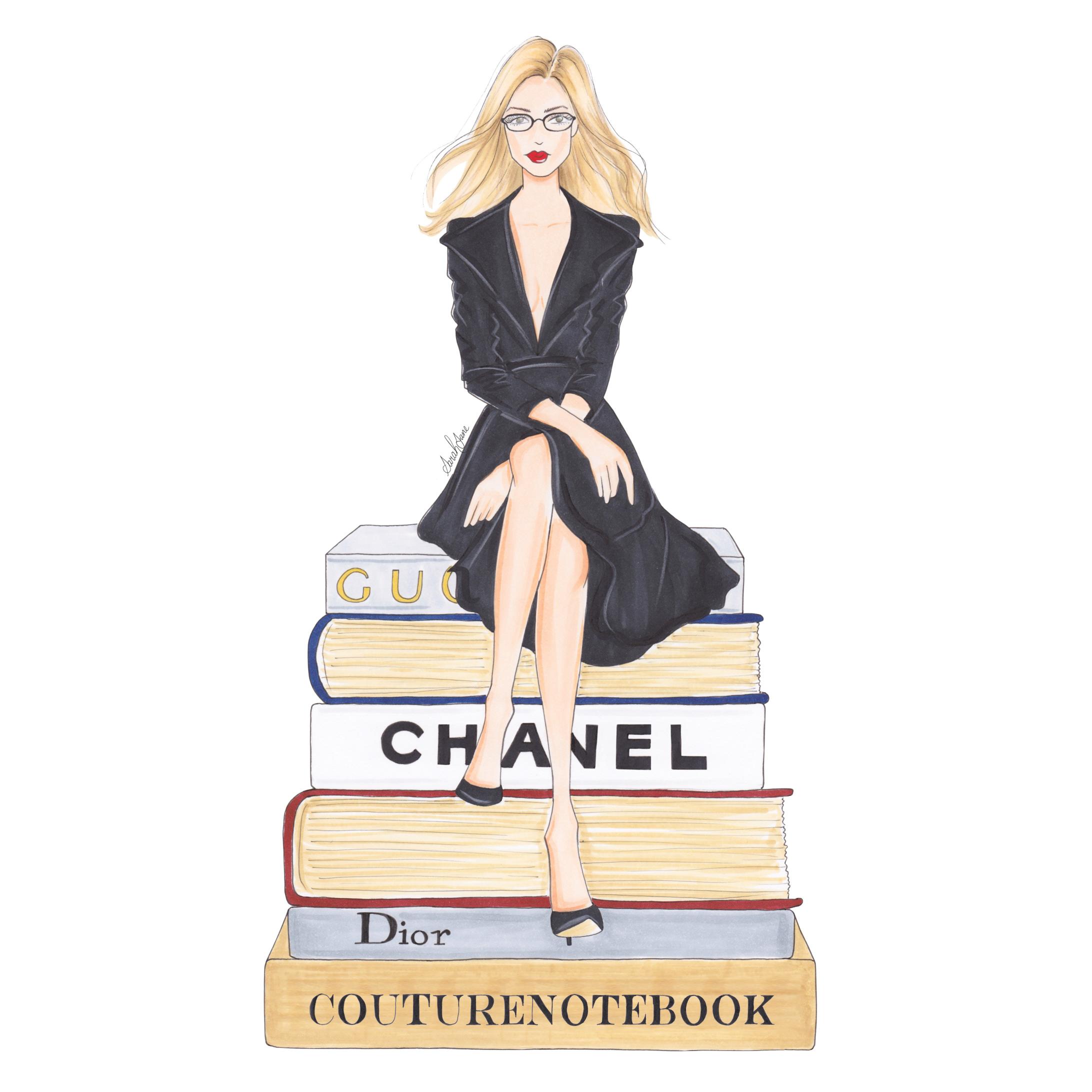 Couturenotebook illustration by @ IllustriousJane