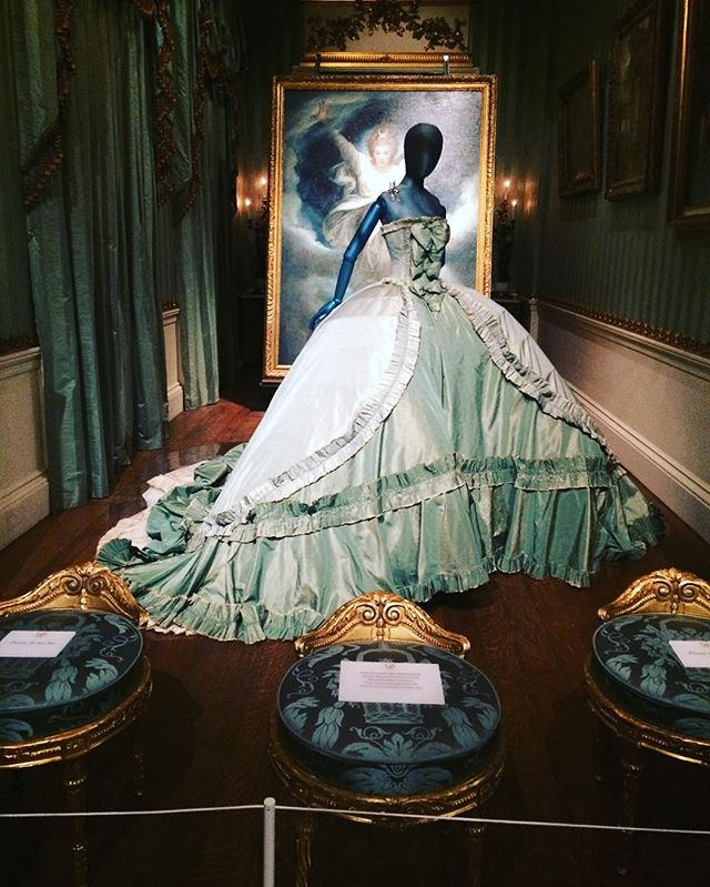 Gown worn by Stella Tennant, granddaughter of the 11th Duke of Devonshire, for a Vogue photoshoot..jpg