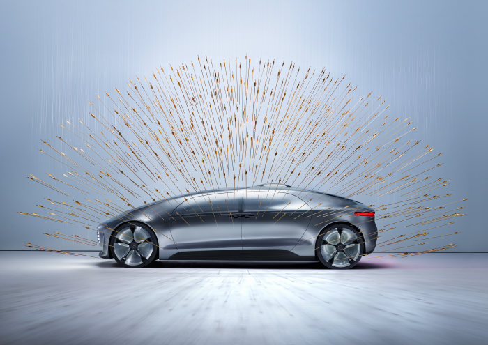 Sarah Illenberger has drawn attention to the Mercedes-Benz F015 Luxury in Motion by producing five spectacular installations.