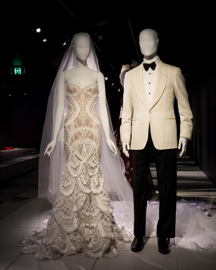 Terry Biviano wears J'Aton at her wedding to Anthony Minichiello.