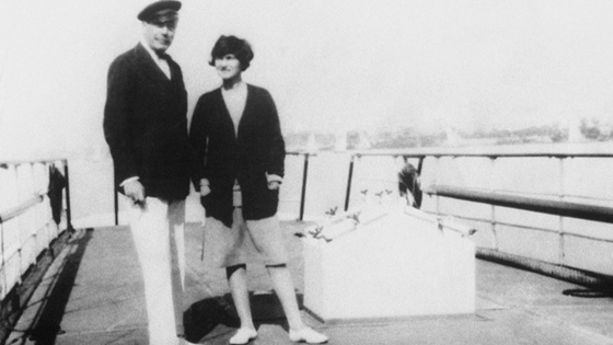 The Duke and Chanel on the deck of Flying Cloud