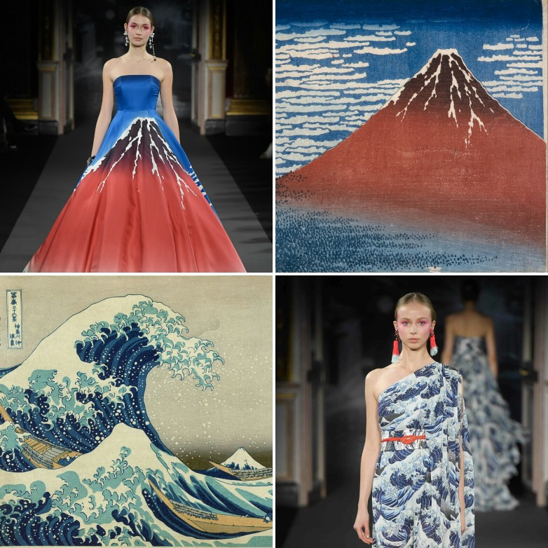 @Couturenotebook  Top right:  Fine Wind, Clear Morning, c.1830-1832;  Bottom left:  The Great Wave off Kanagawa, circa 1829-1833,  both by Hokusai