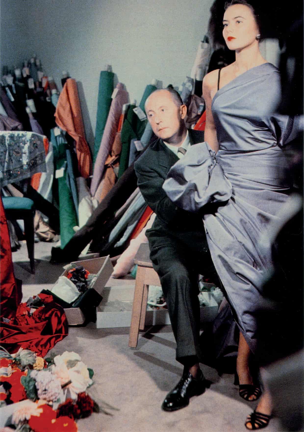 Christian Dior with model Sylvie, circa 1948, Courtesy of Christian Dior
