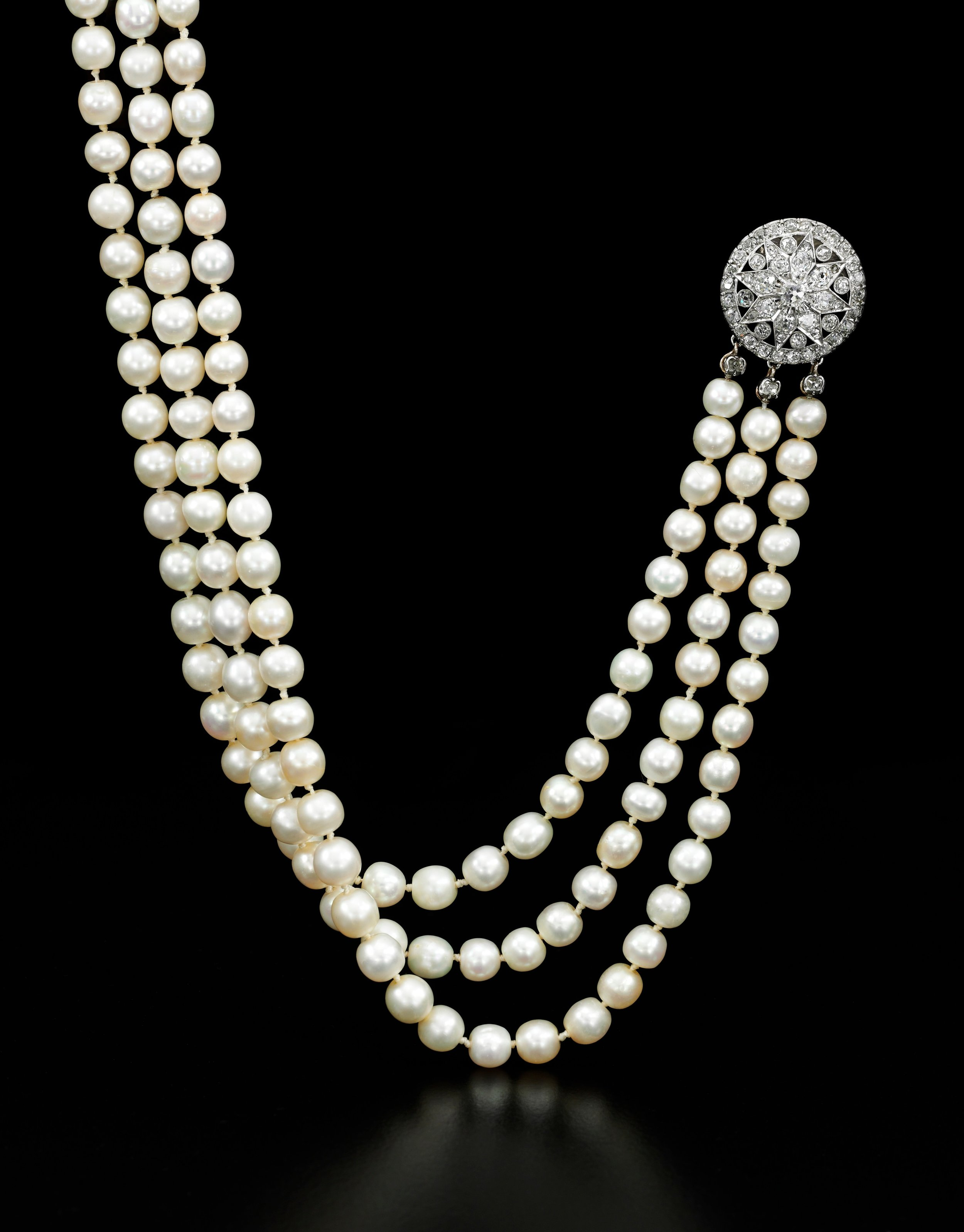 Important natural pearl and diamond necklace - on black - Royal Jewels from the Bourbon Parma Family - Sotheby's 14 November 2018.jpg