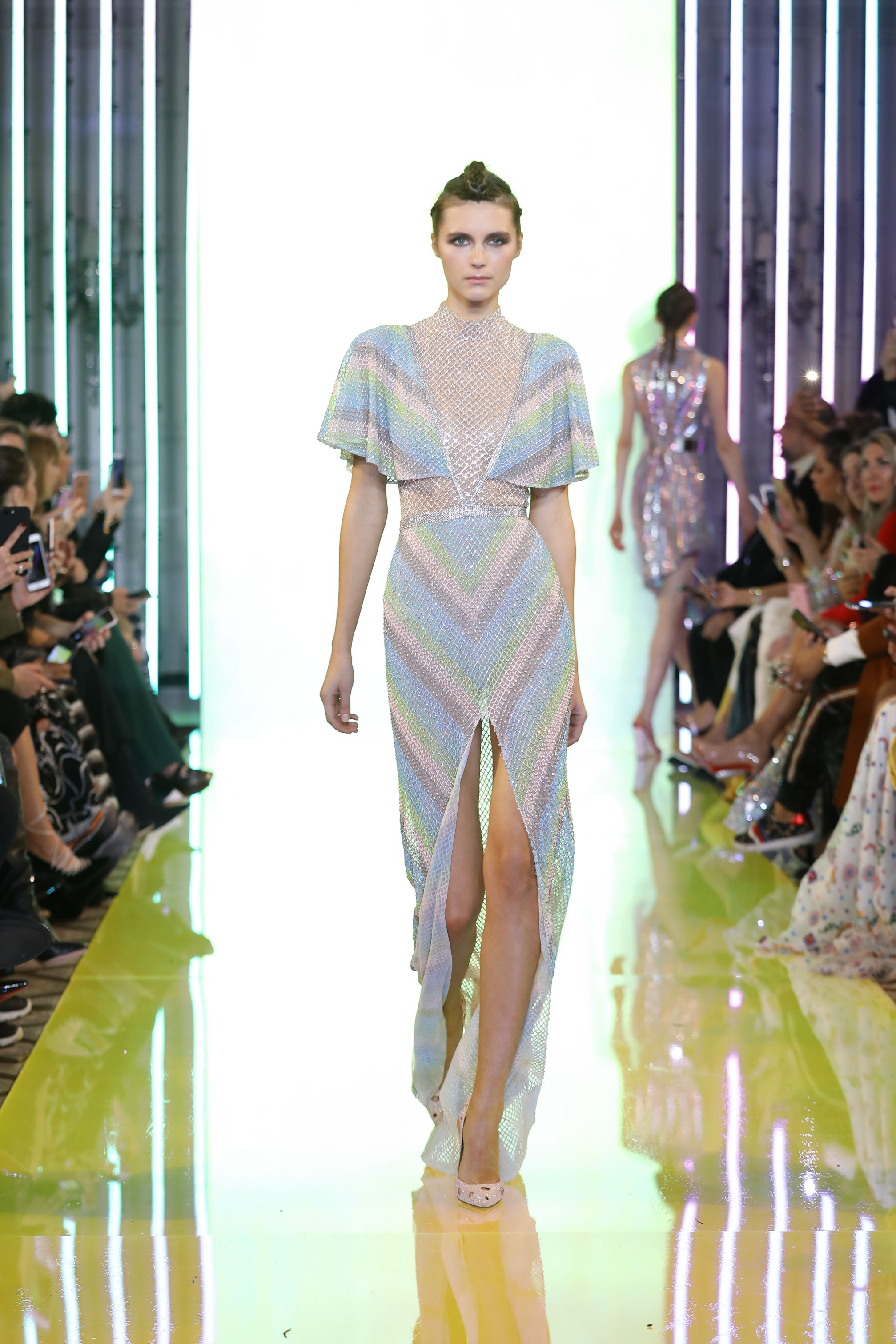 SS19-37- Pastel Shades Of Glass Beads And Swarovski Embellishements With Crystalled Neckline Dress.jpg