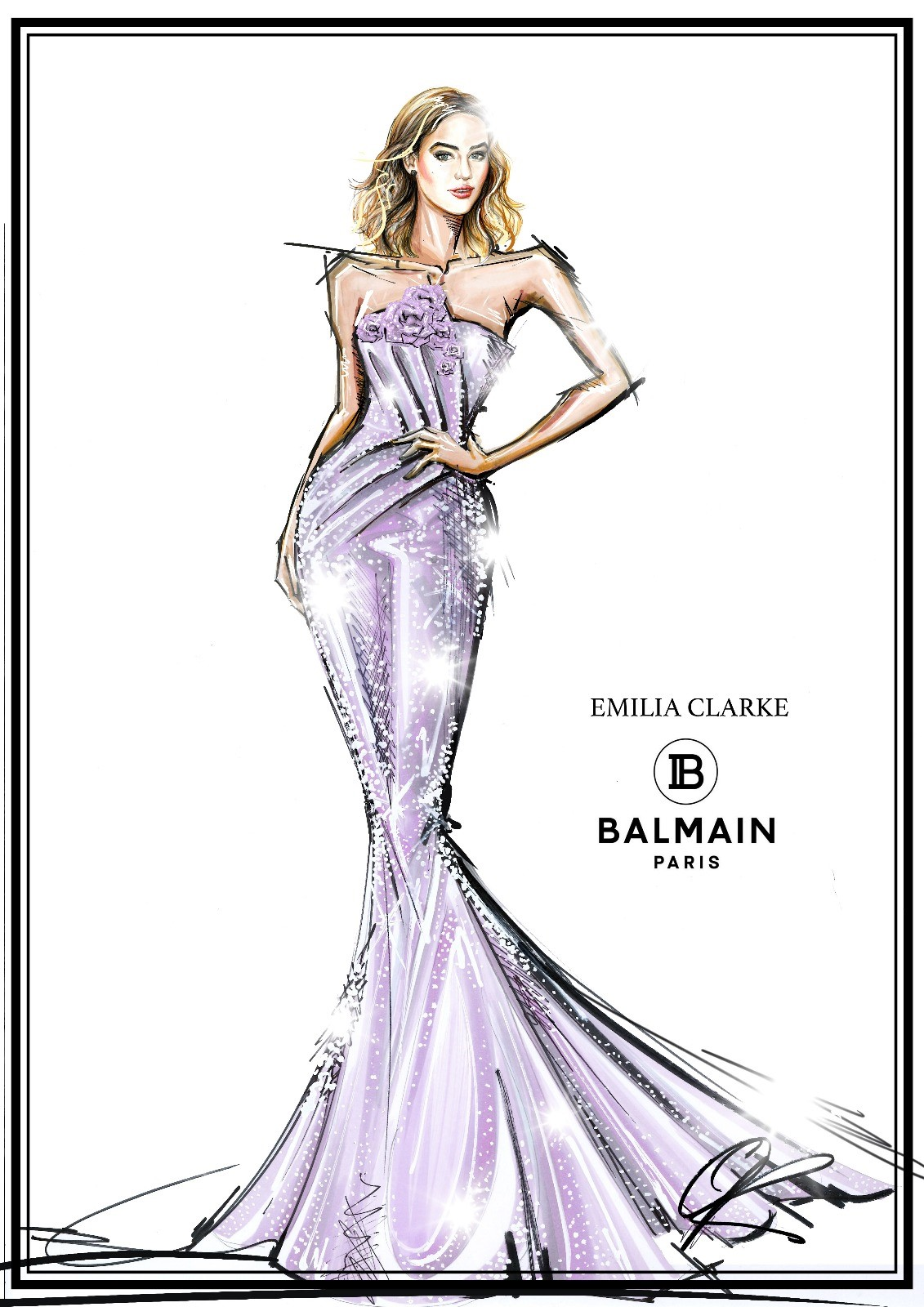 Emilia Clarke x Swarovski Balmain Sketch.jpg