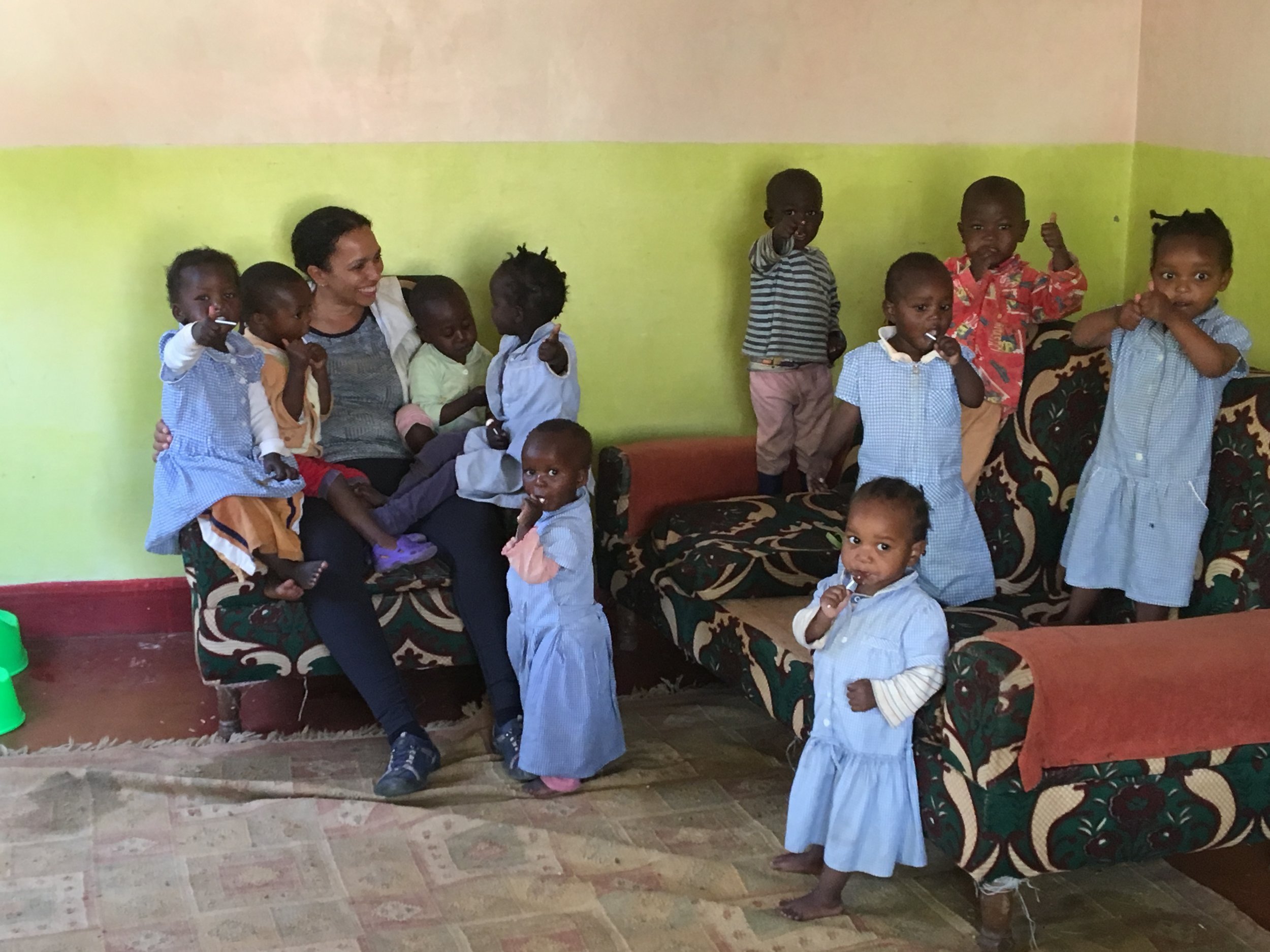Working with 1-2 years olds in Kenyan orphanage