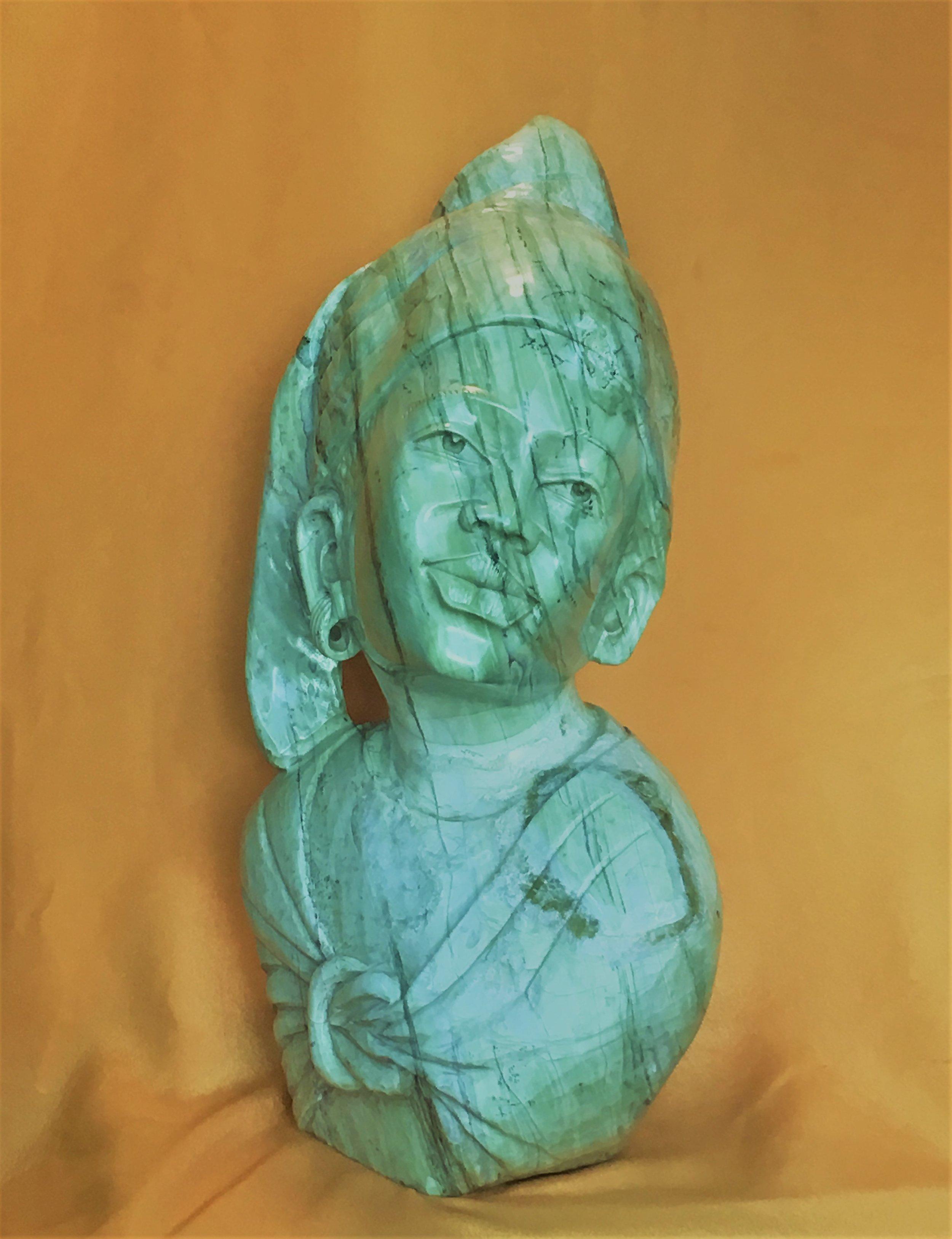 Shona stone Female Butter Jade by E. Katombera