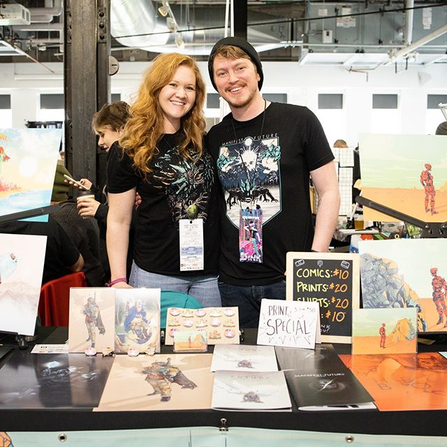 Sha Boi and his lovely assistant at the amazing #dinkdenver We had a great time talking to all the visitors about life, comics, art and illustration!! 303 Magazine was kind enough to interview me and chat about my work! Pinch zoom for my section! Love you!! . . . . . . . @dinkdenver #comics #comiccon #independentartist #indiecomics #denverartist #derekwk #illustration #303 #comicconvention #denver