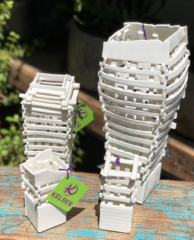 Ceramic scaffold vessels are here. #naplesflorida #naplesdesigndistrict #matthewyanchuk #ceramicvessels #uniquefloraldesigns #humpday