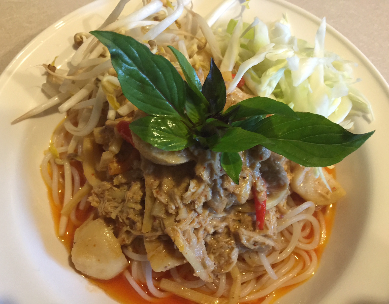 Red Curry with Vermicelli Noodles