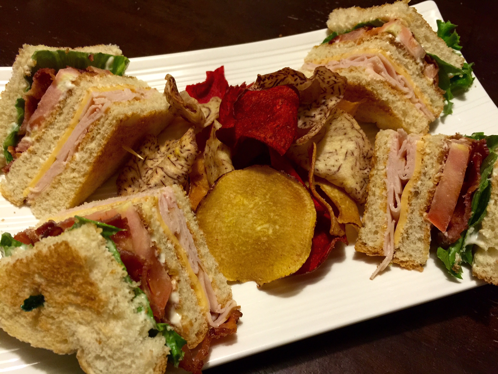 Club Sandwich with Veggie Chips