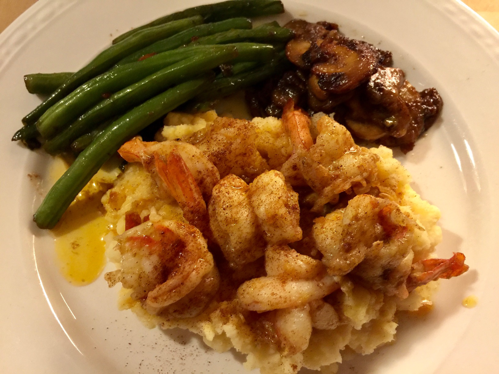 Cajun Shrimp and Mashed Potatoes