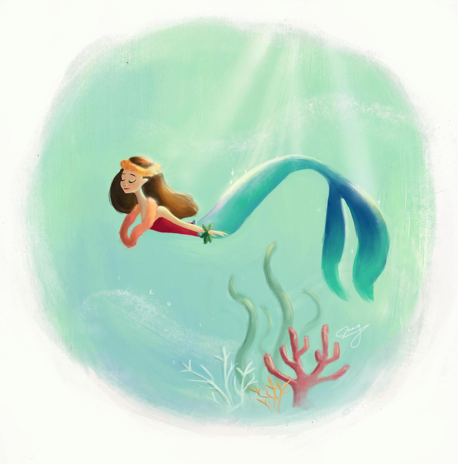 Hula Girl Mermaid