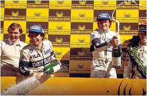 South African GP podium