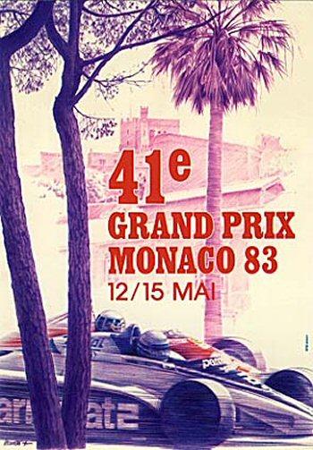 1983 Monaco GP poster