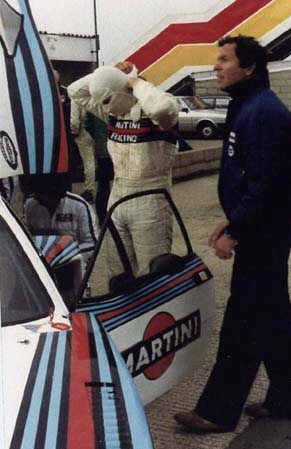 With Lancia team manager Cesare Fiorio - Silverstone