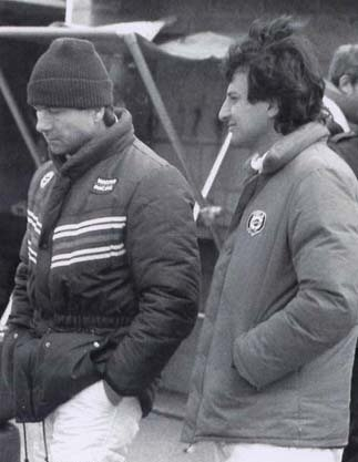 With Lancia team-mate Bob Wollek - Silverstone
