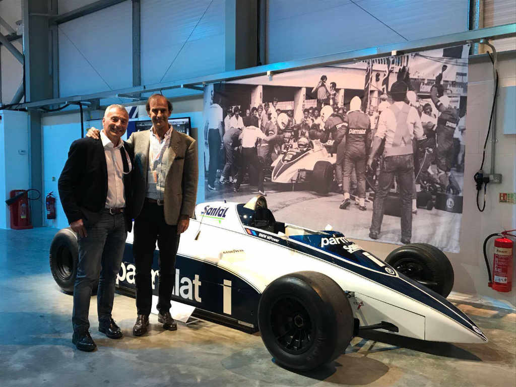 With Emanuele Pirro and the Brabham BT50-BMW