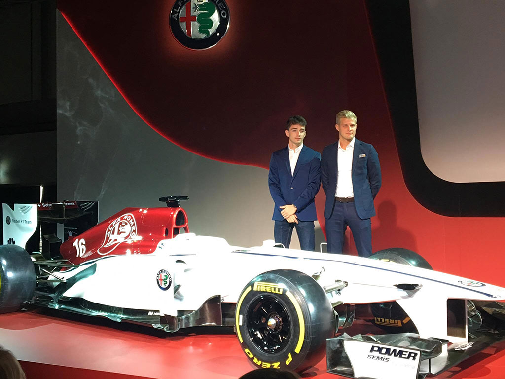 Sauber Alfa Romeo team drivers for 2018 - Charles Leclerc and Marcus Ericsson