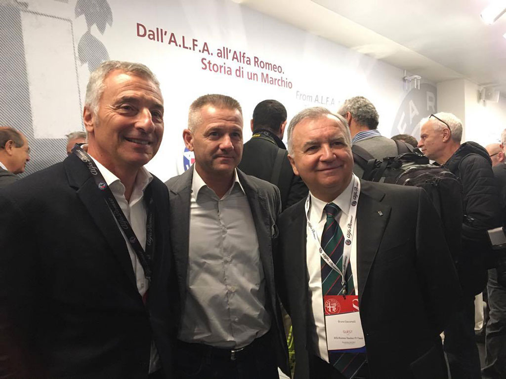 Riccardo with Nicola Larini and Bruno Giacomelli