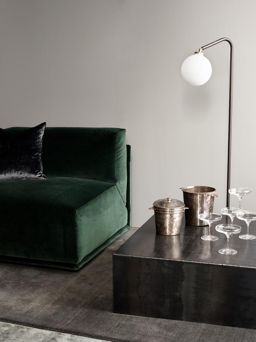 Bacon Sofa & Array Floor Lamp