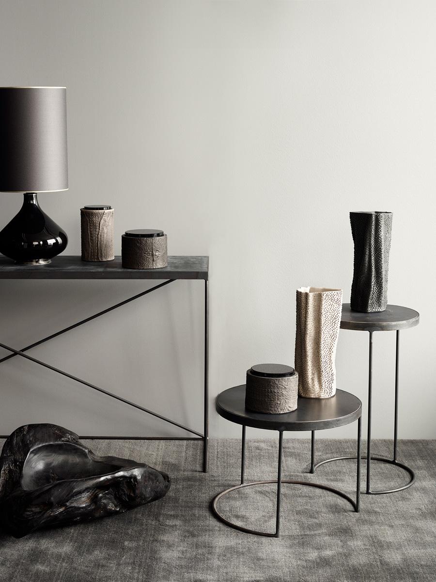 Arrondissement Iron Table & Flavia Lamp