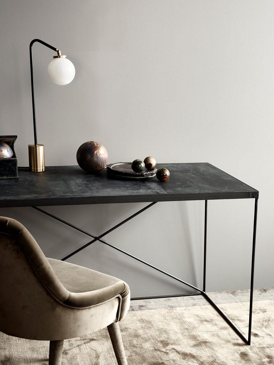 Arrondissement Iron Desk and Array Table Lamp