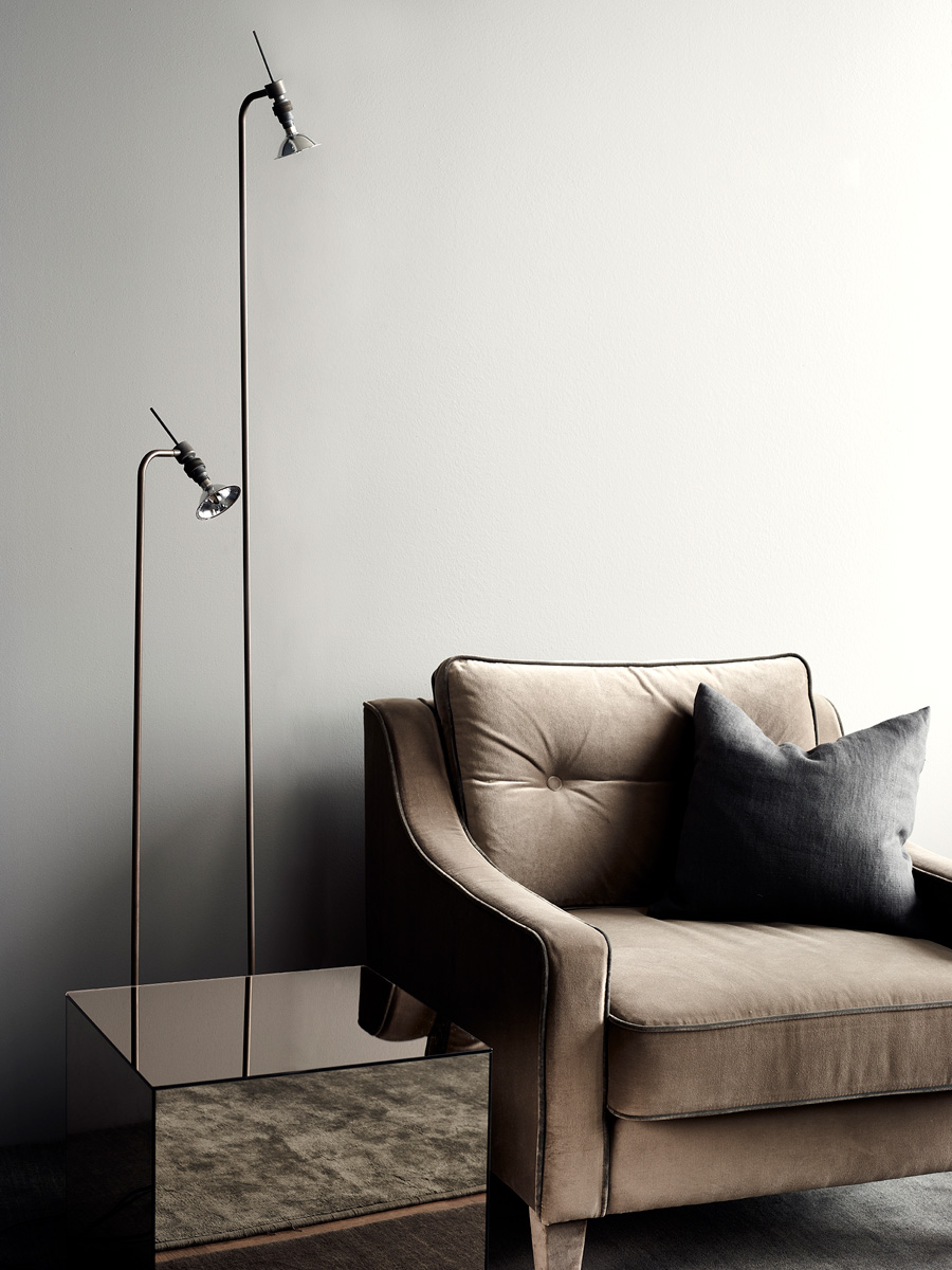 Edward Chair and Chaplin Lamps