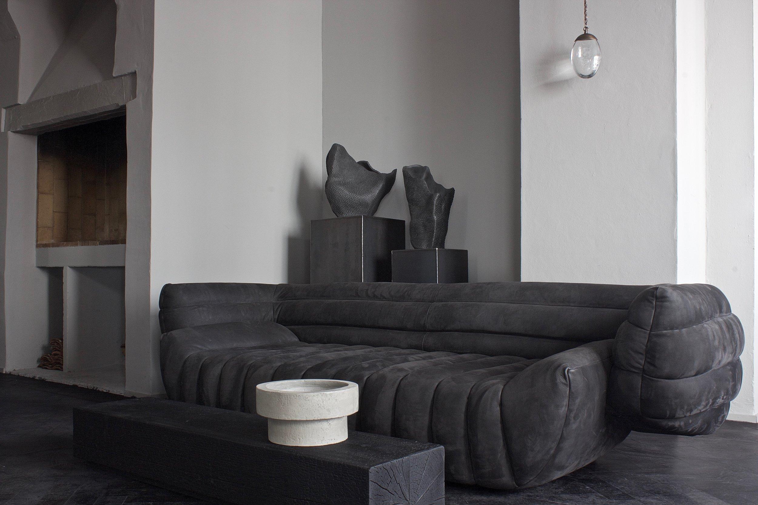 Tactile Sofa and Pangolin Vases