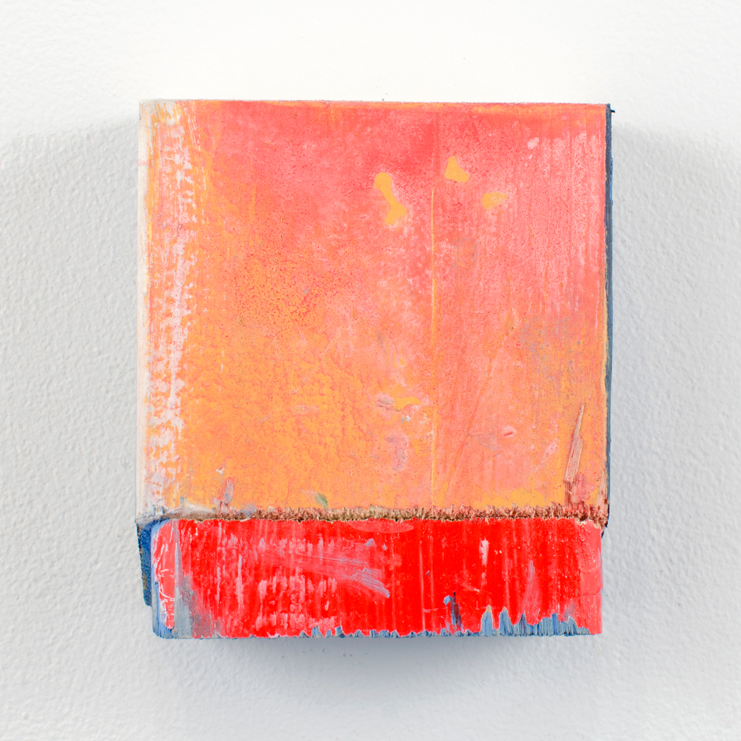 Red Dot Special , 2012, acrylic on wood, 4 x 3.5 x 1.5 in