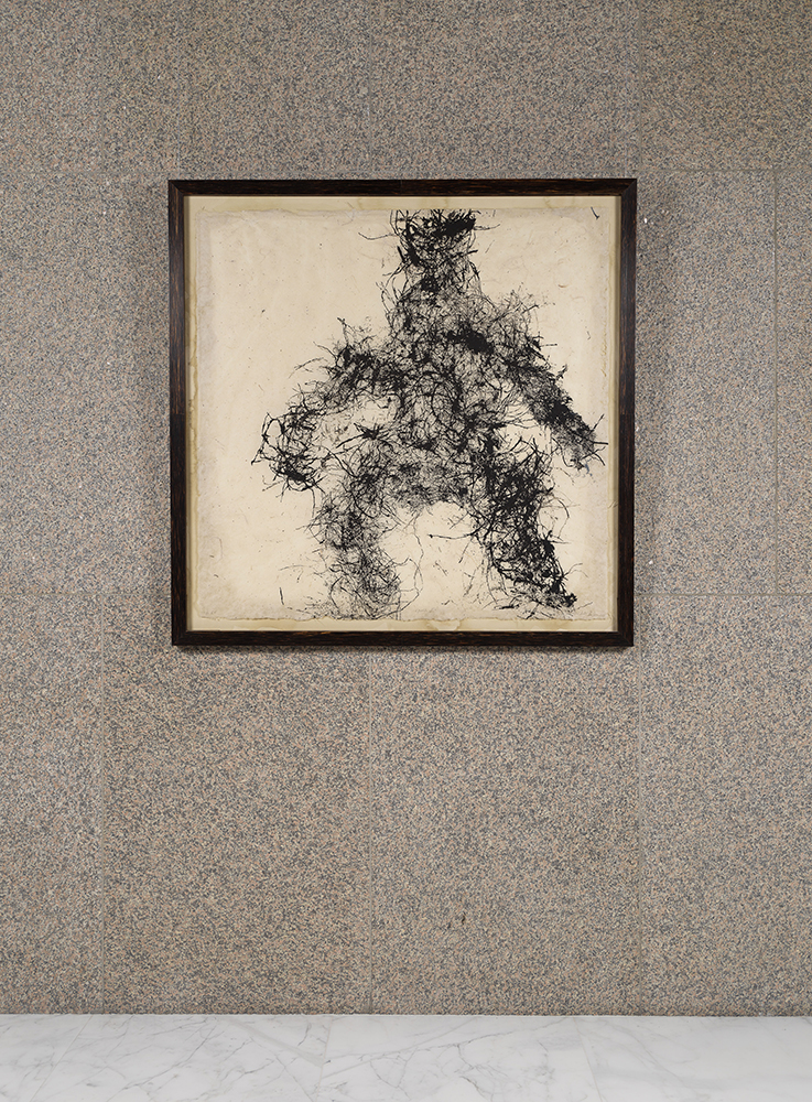 Gath II (2008), Organic Material on abaca paper, 4 x 4 ft.