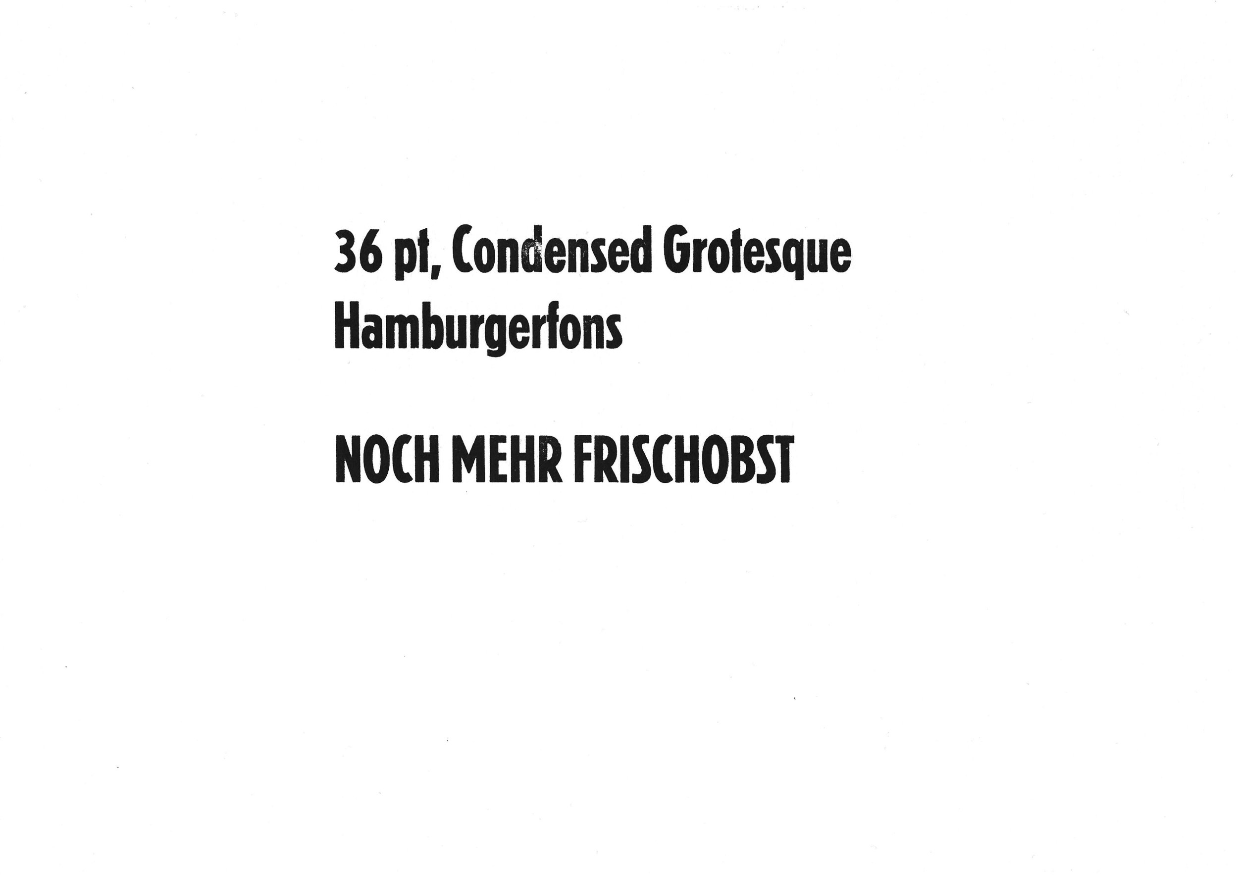 36pt. Condensed Grotesk