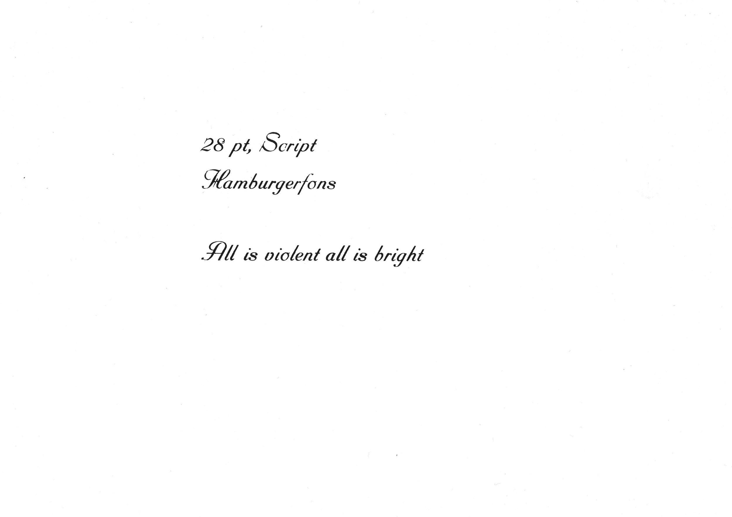 24pt. Script