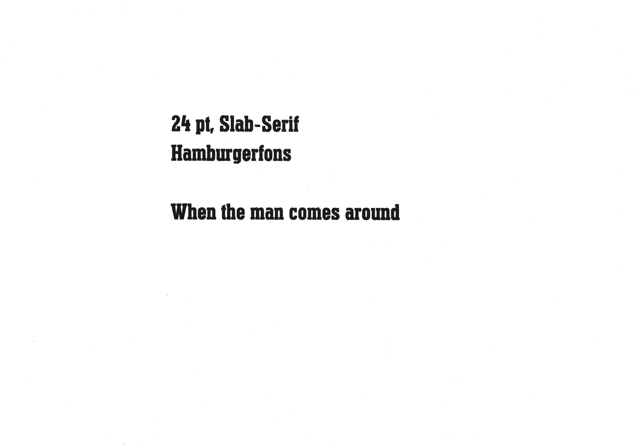 24pt. Slab Serif